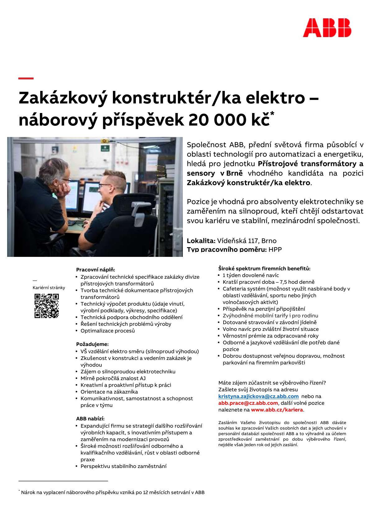 ABB nabídka práce